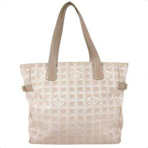 Auth Chanel New Travel Line Gm Tote Bag #19596C19B